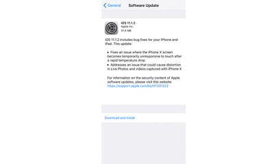 Apple tung bản cập nhật iOS 11.1.2 khắc phục sự cố màn hình liệt khi trời lạnh