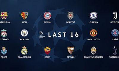 Champions League: Xác định 16 đội vào vòng knock-out