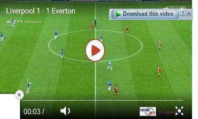 Everton cầm hòa Liverpool nhờ bàn thắng của Rooney