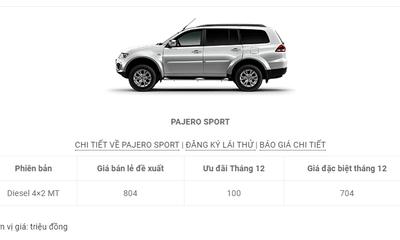 Bảng giá ô tô Mitsubishi mới nhất tháng 12 tại Việt Nam