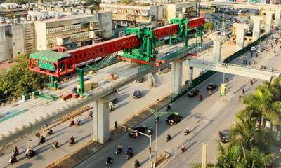 Phân luồng giao thông phục vụ thi công tuyến đường sắt Nhổn - Ga Hà Nội