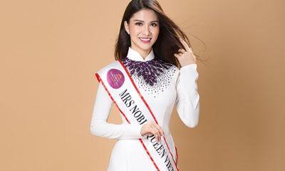Thí sinh Hoa hậu quý tộc thế giới khoe vẻ đẹp trong trẻo trong tà áo dài trắng