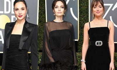 Quả Cầu Vàng 2018: Dàn sao Hollywood đồng loạt diện đồ đen trên thảm đỏ