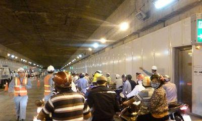 Tạm dừng lưu thông qua hầm vượt sông Sài Gòn