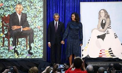 Ngắm bức chân dung chính thức của vợ chồng ông Obama