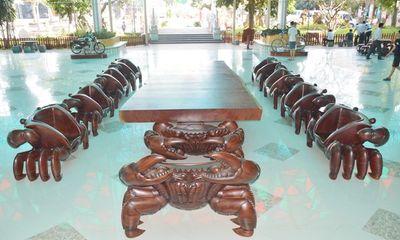 Cận cảnh bộ bàn ghế hình dáng