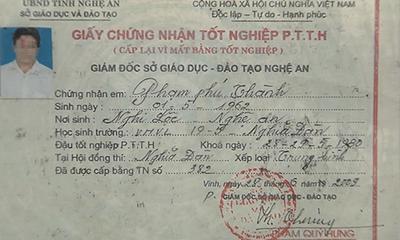 Kỷ luật trưởng công an xã xài giấy chứng nhận tốt nghiệp giả
