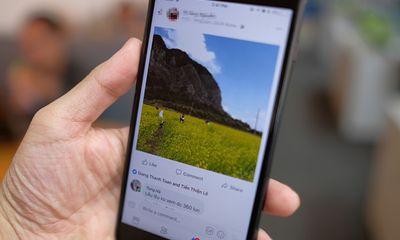 Người dùng facebook gặp sự cố ảnh trên điện thoại bị bóp vuông