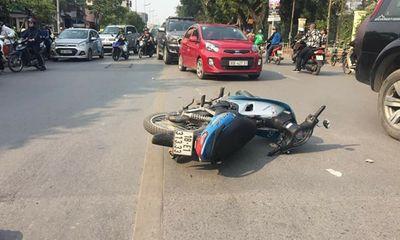 Hà Nội: Xe máy va chạm xe buýt, nam thanh niên tử vong tại chỗ