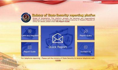 Trung Quốc ra mắt trang web tố cáo gián điệp ngoại quốc, quan chức tham nhũng