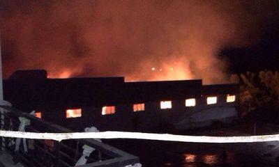 Tiền Giang: Cháy lớn tại nhà máy dệt ở khu công nghiệp Long Giang
