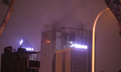 Hà Nội: Cháy lớn ở toà nhà MB Grand Tower trên đường Lê Văn Lương
