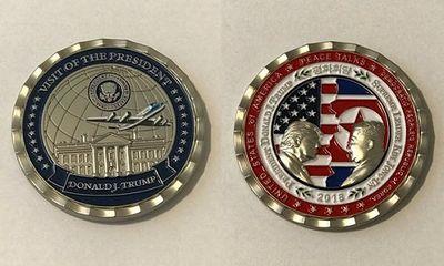 Tiết lộ hình ảnh đồng xu in hình lãnh đạo hai nước Mỹ - Triều Tiên