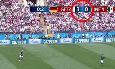 FIFA mắc sai lầm hài hước khi ghi sai tỷ số trận Đức thua Mexico