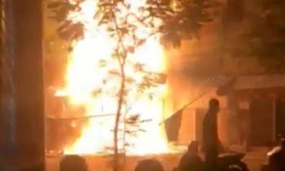 Hiện trường vụ hoả hoạn cháy nhà 5 tầng tại khu Chợ Lớn