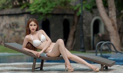 Chi Nguyễn khoe vòng eo 58 trước vòng thi bikini tại Miss Asia World 2018