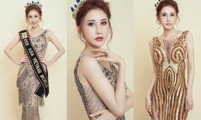 Chi Nguyễn hé lộ trang phục dạ hội trước thềm chung kết Miss Asia World 2018