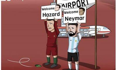 Ảnh vui World Cup 2018: Messi, Ronaldo