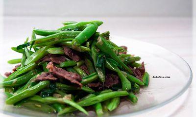Cách làm thịt bò xào đỗ ngon miễn chê