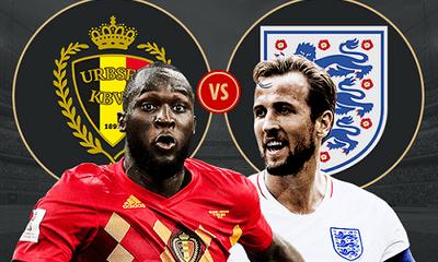 Trực tiếp trận Anh - Bỉ: