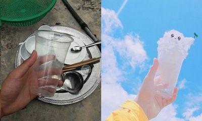 Thanh niên sáng tạo bộ ảnh mây trời siêu dễ thương trong khi rửa bát