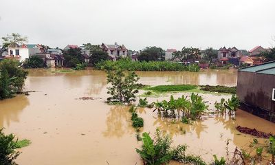 Thanh Hóa: 7 thôn ở xã Thiệu Dương bị ngập nặng