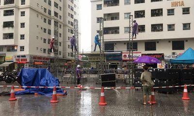 Chung cư ở Hà Nội góp tiền thuê màn hình LED rộng hơn 30 mét vuông cổ vũ Olympic Việt Nam