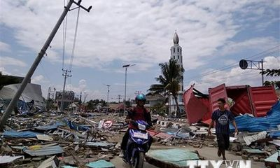 Động đất, sóng thần Indonesia: Chưa có tin người Việt thương vong