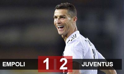 Ronaldo ghi siêu phẩm sút xa, giúp Juventus ngược dòng hạ Empoli