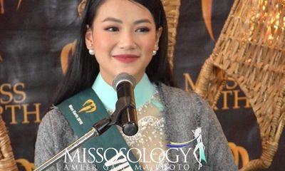Vì sao Phương Khánh khoác áo lùm xùm khi trả lời phỏng vấn tại Miss Earth?