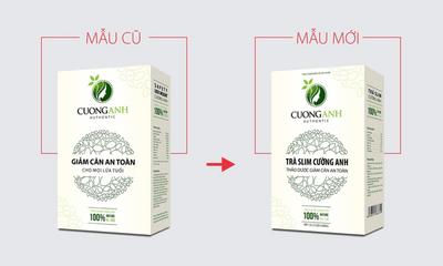 Bị làm giả sản phẩm, trà giảm cân Cường Anh thay đổi bao bì sang Trà Slim Cường Anh