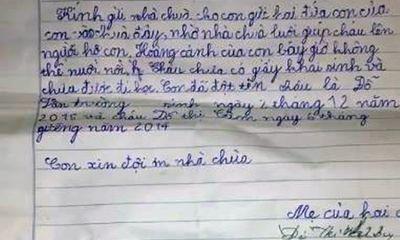 Hé lộ nội dung bức tâm thư của người mẹ mang hai con lên chùa thắp hương rồi bỏ lại