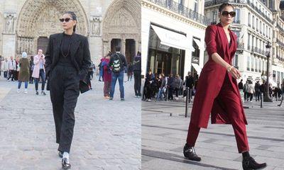 Street style siêu chất của Trương Thị May tại kinh đô thời trang Paris