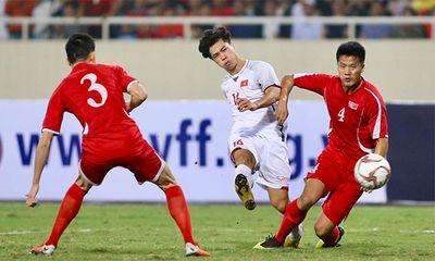 Tuyển Việt Nam cầm hòa 1-1 với CHDCND Triều Tiên trên thế thắng