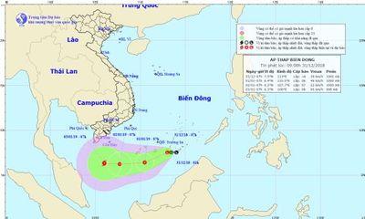 Xuất hiện vùng áp thấp mới có khả năng mạnh thêm trên Biển Đông