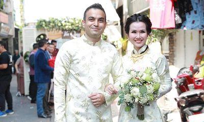 Võ Hạ Trâm xinh đẹp rạng ngời trong hôn lễ với doanh nhân Ấn Độ