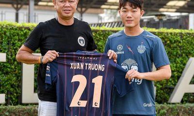 Xuân Trường ký hợp đồng với CLB Buriram United, khoác áo số 21