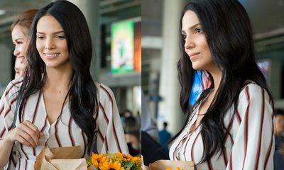 Cận cảnh nhan sắc không tỳ vết của Hoa hậu Siêu quốc gia khi đến Việt Nam
