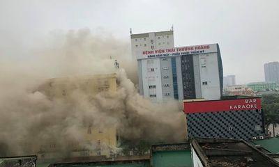 Nghệ An: Hỏa hoạn tại quán karaoke, huy động hàng trăm chiến sĩ chữa cháy