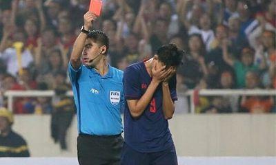 Video: Pha phạm lỗi thô bạo với Đình Trọng khiến tiền đạo của U23 Thái Lan nhận thẻ đỏ