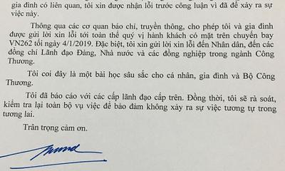 Bộ Công Thương kỷ luật 3 cán bộ, nhân viên trong vụ xe công đón vợ Bộ trưởng