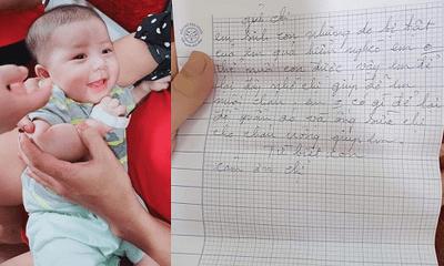 Vụ mẹ gửi con 3 tháng tuổi cho người lạ rồi bỏ đi biệt tích: Hé lộ lá thư tay đẫm lệ
