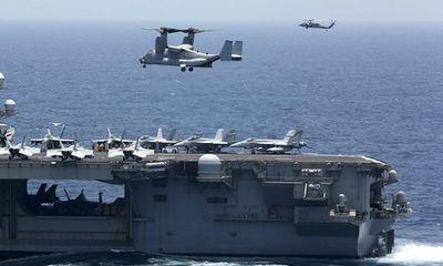 Căng thẳng Mỹ-Iran: Nhóm siêu tàu chiến của Washington tập trận rầm rộ trên biển Arab