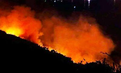 Cháy dữ dội trên bán đảo Sơn Trà, hàng trăm chiến sĩ căng mình dập lửa