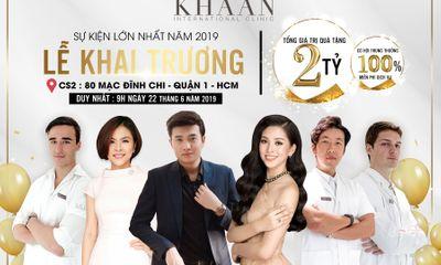 Hoa hậu Trần Tiểu Vy dự khai trương cơ sở 2 của Thẩm mỹ Quốc tế Khaan