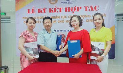 Lễ ký kết hợp tác giữa trường trung cấp Future Việt Nam với Thẩm mỹ viện Hoàng Gia