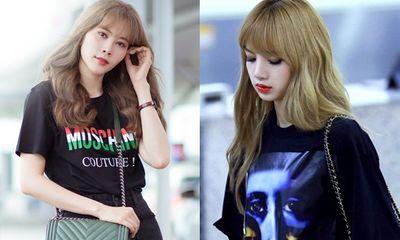 Nam Em lăng xê kiểu tóc Lisa (BLACKPINK), diện set đồ hiệu trăm triệu ở sân bay