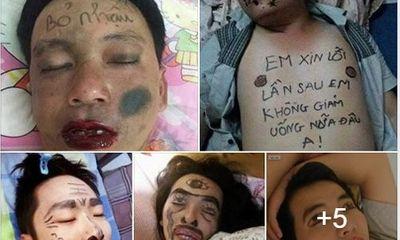 Muôn kiểu trị chồng say xỉn của các bà vợ Việt