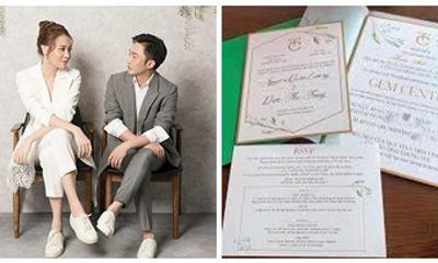 Thiệp cưới của Cường Đô La và Đàm Thu Trang với những yêu cầu dành cho khách mời gây chú ý