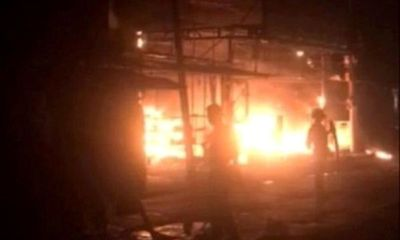 Hải Phòng: Cửa hàng điện máy cháy lớn trong đêm, toàn bộ tài sản ở tầng 1 bị thiêu rụi